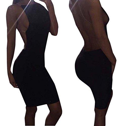 Del Vestido Del Mangas Del Sin Del Partido Backless Vestido Sin Mujer ArnéS Estiramiento Vestido Oyedens Del Para Bodycon Mangas BOnFwq1C