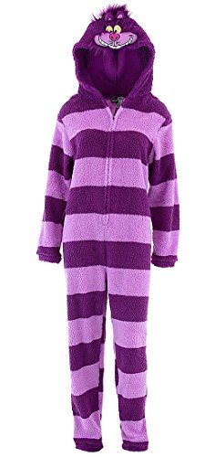 [Disney Men's Alice in Wonderland Hooded Uniform Union Suit, Purple, XL] (Men In Womens Costumes)