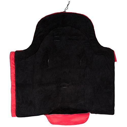 TecTake Saco de invierno dormir térmico para carrito silla de bebé universal abrigo polar - disponible en diferentes colores - (Rojo | No.