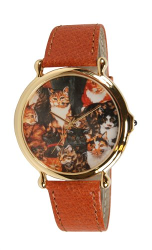 Women's Extra Large Gold-Tone Cat Watch # (Gold Tone Cat)