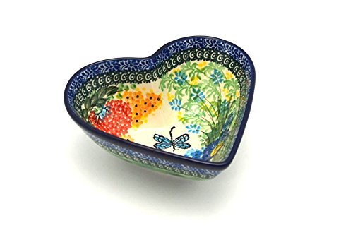 Polish Pottery Bowl - Deep Heart - Unikat Signature U4612