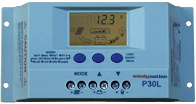 Best Cheap Deal for LCD PWM Solar Panel Regulator Charge Controller with Digital Display and User Adjustable Settings by Windy Nation - Free 2 Day Shipping Available