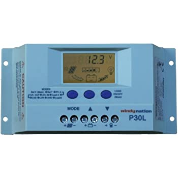 P30L LCD 30A PWM Solar Panel Regulator Charge Controller with Digital Display and User Adjustable Settings