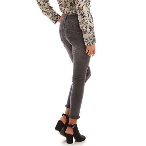 Gris Modeuse La Jeans Slim froiss Fonce AqTF84wf