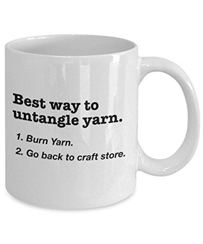 Knitting   Sewing Mug - Best way to untangle yarn. - 11 OZ Coffee Mug/Cup
