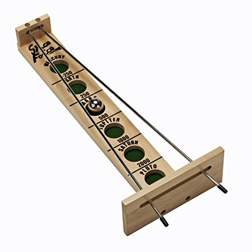 WE Games Shoot The Moon Board Game - Solid Maple Wood (Made in - Skittle Ball