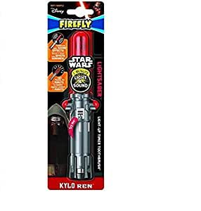 Firefly Star Wars Kylo Ren/Rey Lightsaber Assorted Kids Toothbrush, Soft, 1-Count (Discontinued by Manufacturer)