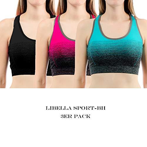Deportivo Bustier Sujetador Libella Amplio Push Un2 Up Yoga Correas Camisetas Fitness Con Mujer Mangas 3738 Sin TWqgCWnA4
