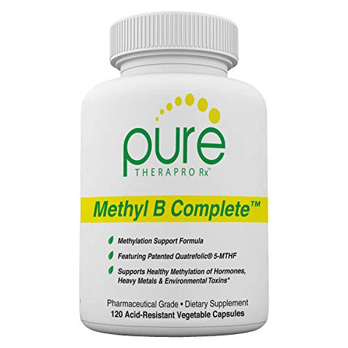 Methyl B Complete - 120 Vegetable Capsules | Optimal Methylation Support Supplement with Quatrefolic 5-MTHF (active folate), Methylcobalamin (active B12), B2, B6, and TMG | Pharmaceutical Grade