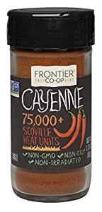 Frontier All-Natural Cayenne Pepper, Ground, 1.76-Ounce Bottle