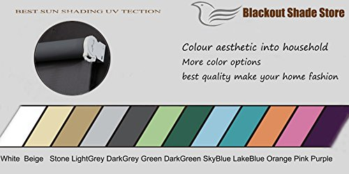 PASSENGER PIGEON Thermal Insulated 100% Blackout Waterproof Fabric Custom Window Roller Shades Blinds,58'' W x 48''L,Dark Grey by PASSENGER PIGEON (Image #5)