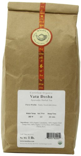The Tao of Tea Vata Dosha, Certified Organic Ayurvedic Tea, 1-Pound