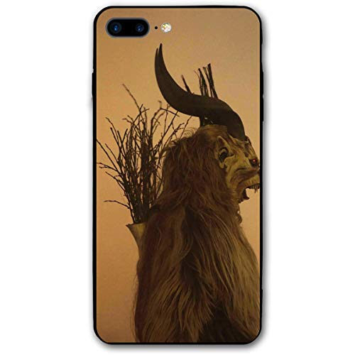 Folklore Christmas Changing Mask of Krampus iPhone 8 Plus Case, iPhone 7 Plus Case, Ultra Thin Lightweight Cover Shell, Anti Scratch Durable, Shock Absorb Bumper Environmental Protection Case Cover