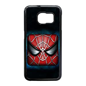 Generic hard plastic Spider-Man Logo Cell Phone Case for Samsung Galaxy S6 Edge Black ABC83