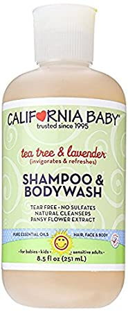 California Baby Tea Tree and Lavender Shampoo & Bodywash - 8.5 oz 103-8-5