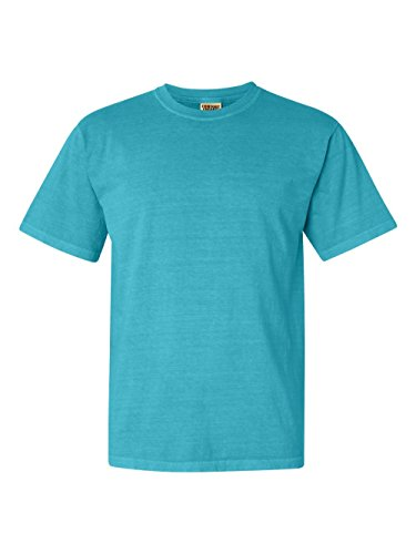 T-shirt Washed Short Garment Sleeve (Comfort Colors Pigment-Dyed Short Sleeve Shirt 3X Lagoon Blue)