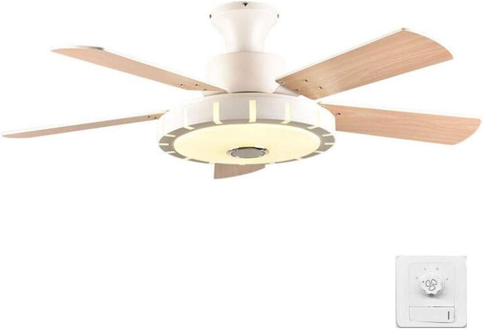 Ventiladores de techo con lámpara incorporada, lámpara LED, luz ...