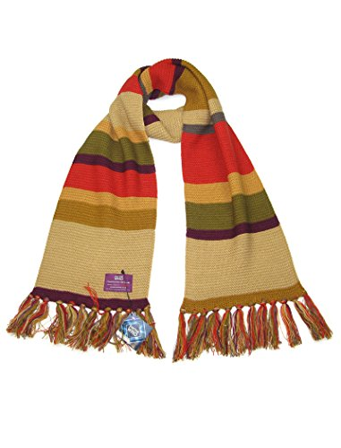 Doctor Who (Tom Baker) Scarf in Short Length - Official BBC Scarf by LOVARZI