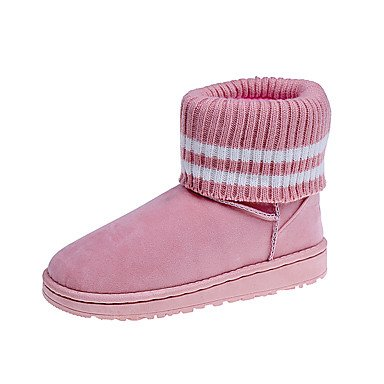 Fashion Winter Snow Boots Boots Flat Gray Casual Boots Booties Ankle UK6 RTRY Blushing Boots Pink EU39 Heel For Round Fall Pu Women'S 5 US8 Outdoor CN40 5 Toe Shoes qXxCaw0I