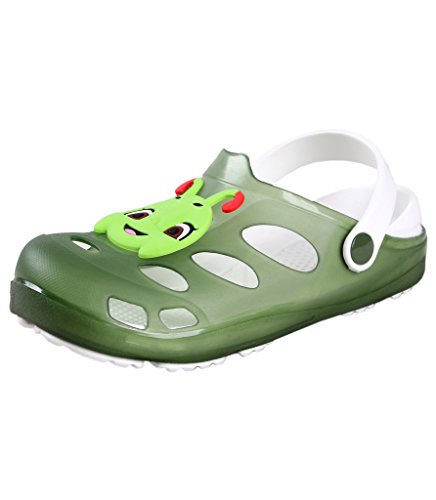 Yueqier Children Little Kids Classic Garden Clog Tangbao Lightweight Mule Sandals Shoes Green 12.5 M US Little (Cheap Kids)