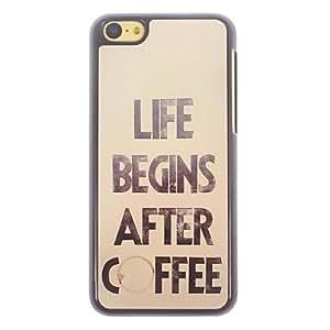 ZXSPACE Coffee Design Aluminium Hard Case for iPhone 5C