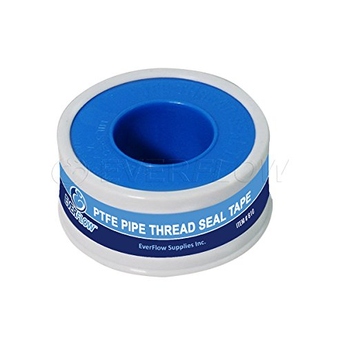 Everflow 812-5 PTFE Thread Seal Tape for Plumbers, White