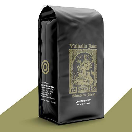 Valhalla Java Bagged Coffee,  medium/dark roast, grounded, 12 Oz