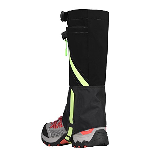 Tagvo Snow Gaiter, Waterproof Windproof Warm Shoes Cover, Durable Easy Cleaning Hiking Gator, Front Velcro Open Easy On Off, Fit Adults Kids Men Women Hunting Climbing Skiing Biking Trimming Grass