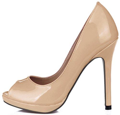 de chaussures goût de femmes la la en haute chaussures l'automne poissons verni réformateur du Cliquez sur Nude de color des pointe cuir talon wEZ0qXnHx