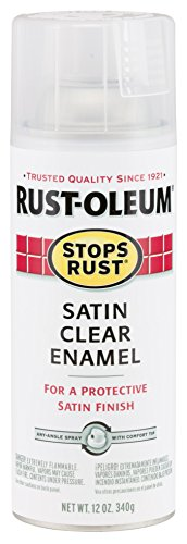 Rust-Oleum 285092 Stops Rust Spray Paint, 12-Ounce, Satin Clear (Spray Enamel)