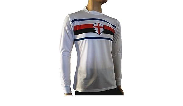 Footex - Camiseta Portero de fútbol, Mod. Tipo Sampdoria Blanca ...