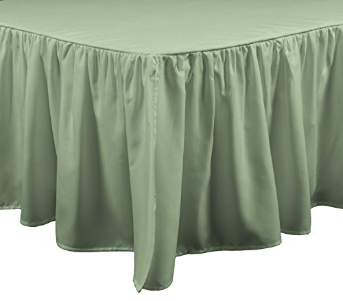 Brielle Essential Bed Skirt, Queen, (Bed Sage)