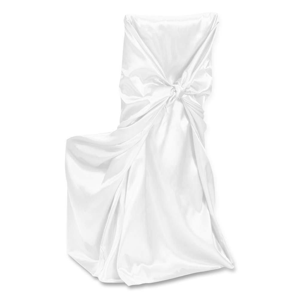 LinenTablecloth satin/é Universel Housse de Chaise Bordeaux