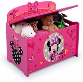 Disney Disney Coffre A Jouets Minnie Mouse Deluxe Rose Amazon Fr Bebes Puericulture