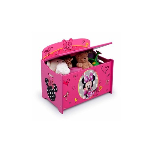 Disney Minnie Mouse Deluxe Toy Box Chest, Pink