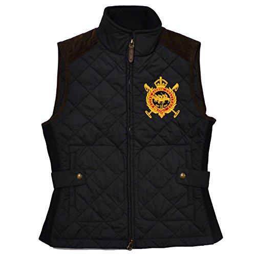 Polo Ralph Lauren Womens Equestrian Puffer Vest (S, Polo Black) ()