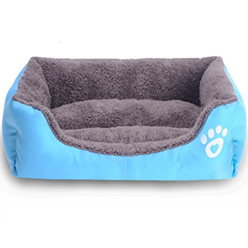 durable service vmree Pet House Bed, Pet Dog Cat Bed Puppy Cushion House Soft Warm Kennel Mat Blanket