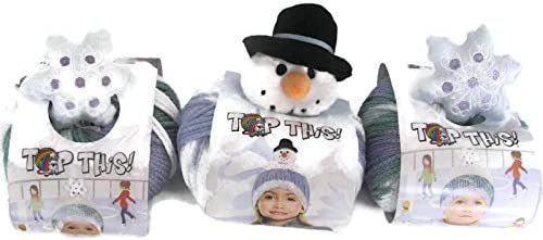 DMC Top This SNOWMAN Child/'s Hat Pattern 80g Ball of Continuous Texture Yarn
