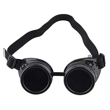 Newgreen - Gafas de Sol Estilo Steampunk, Estilo Vintage, Estilo gó tico, Victoriano, Negro Estilo gótico
