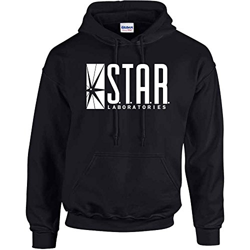 Star Laboratories Star Labs Hoodie Sweatshirt Sweater S.T.A.R Hooded Pullover - Premium Quality (Medium, Black)