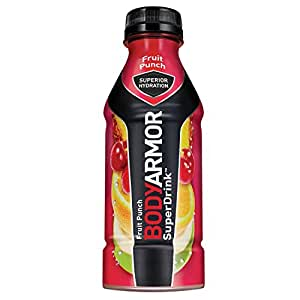 BODYARMOR SuperDrink Sports Beverage, Fruit Punch, 16 Fl Oz (Pack of 12), Natural Flavors With Vitamins, Potassium-Packed Electrolytes, No Preservatives, Perfect For Athletes