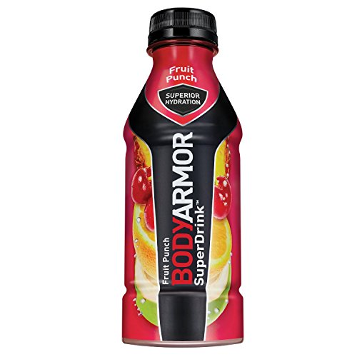BODYARMOR Sports Drink Sports Beverage, Fruit Punch, 16 Fl Oz (Pack of 12), Natural Flavors With Vitamins, Potassium-Packed Electrolytes, No Preservatives, Perfect For Athletes