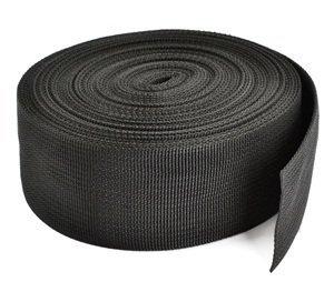 Cosmos ® 2 Inch Wide 10 Yards Black Heavy Polypro Webbing Strap with Cosmos Fastening Strap