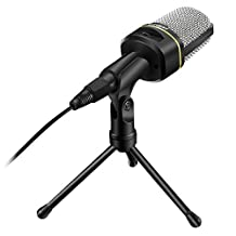 ELEGIANT SF-920 Multimedia Studio Wired Handsfree Condenser Microphone with Tripod Microphone Stand for PC Laptop Win7