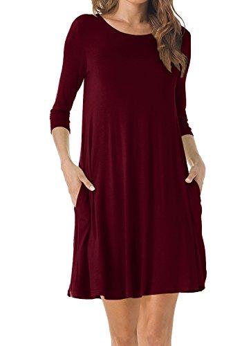 3/4 length sleeve dresses plus size - 7