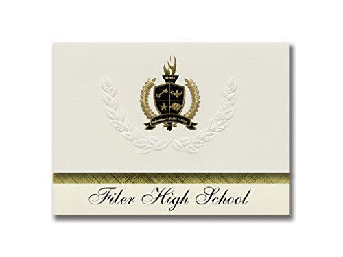 signature announcements Filer de alta escuela (Filer, anuncio de ID) de graduación, presidencial estilo, Elite paquete de...