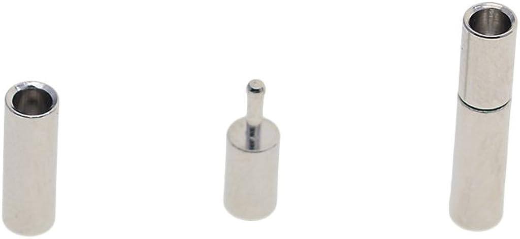 Hellery 20pcs Silber Runde Magnetverschluss Bajonett Fit 2mm 3mm Lederband Armb/änder