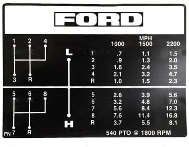 Ford 3400 Tractor Loader Decals