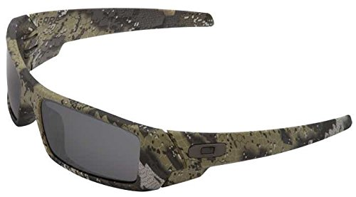 Oakley Men's Gascan Nonpolarized Rectangular Sunglasses, SI Desolve Bare Camo / Black Iridium, 60 - Sunglasses Camo
