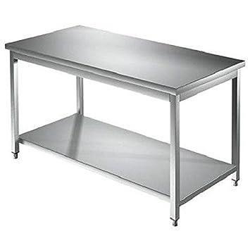 Acero inoxidable mesa de trabajo 1000 x 600 mm independiente ...